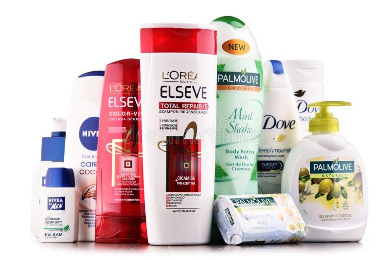与容器的构成全球性化妆用品品牌 库存照片