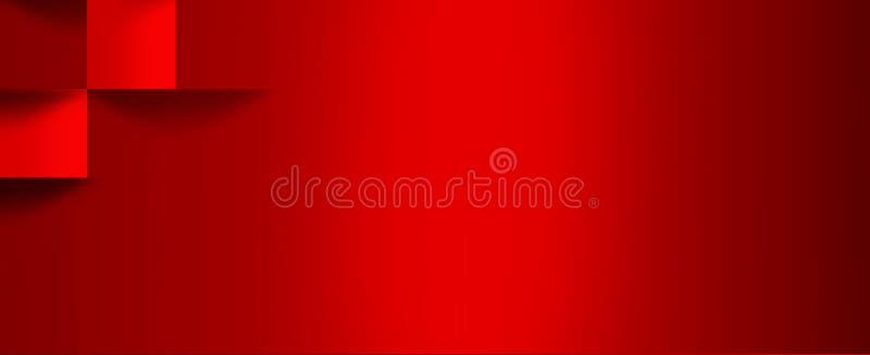 与容量立方体的图象的明亮,红色pho 库存例证