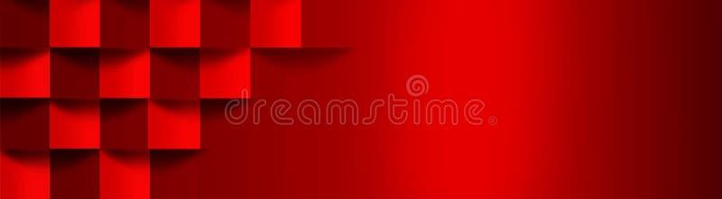 与容量立方体的图象的明亮,红色pho 向量例证