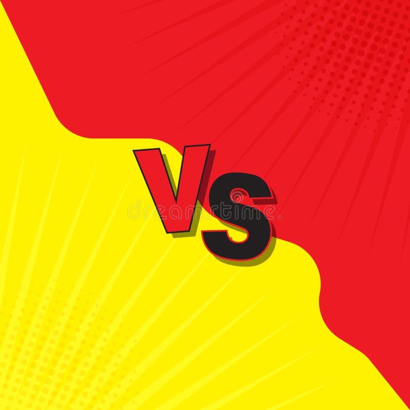 与对板料比较,与背景的战斗在平板可笑的设计由中间影调,闪电制成 向量例证