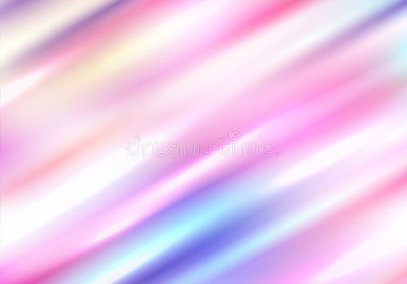 与对角强光的全息照相的背景 被弄脏的光谱 库存例证