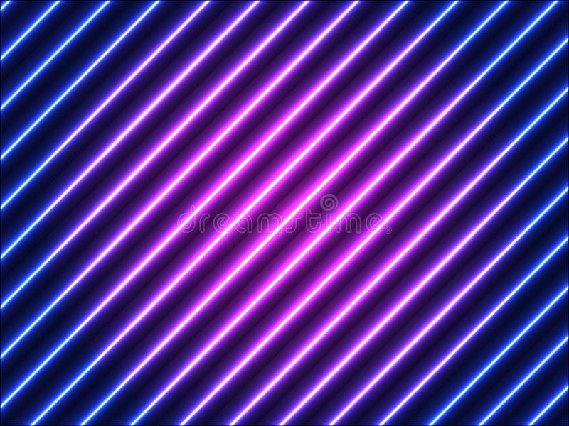 与对角条纹的发光的背景 库存例证