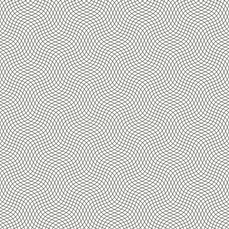 与对角波浪线的扭索状装饰样式 库存例证