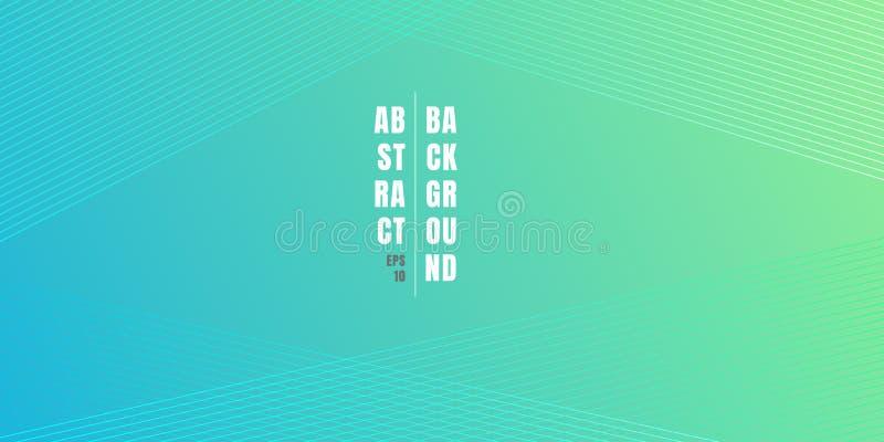 与对角线样式纹理的抽象蓝色和绿色充满活力的颜色梯度背景 软的淡色的背景与 库存例证