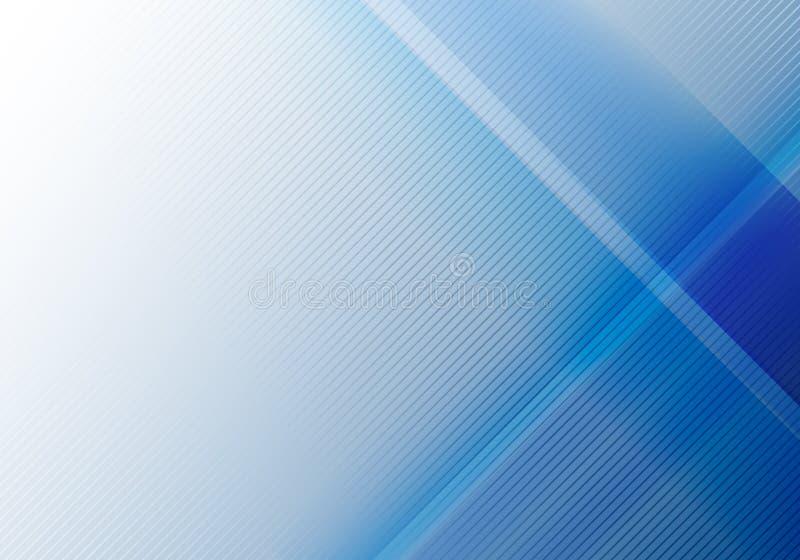 与对角线纹理的摘要蓝色几何亮光和层数元素 皇族释放例证