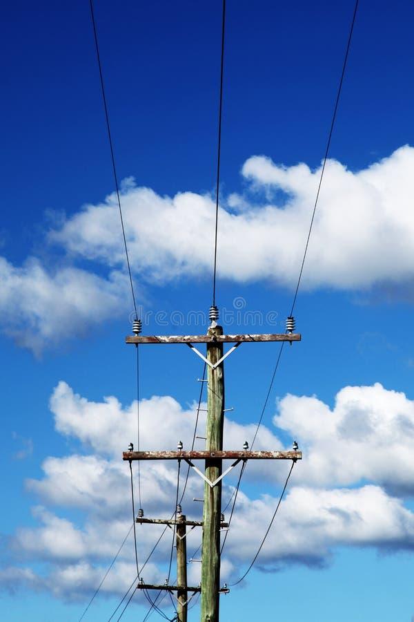 与导线的电线杆 库存照片