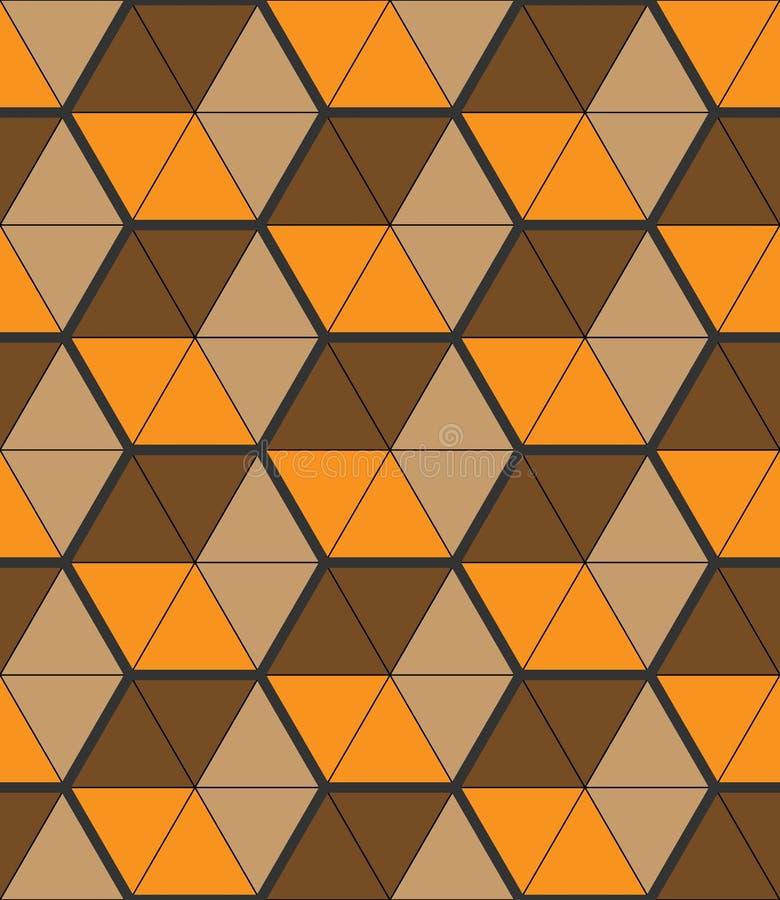 与小三角形状的时髦的背景,六角栅格 皇族释放例证