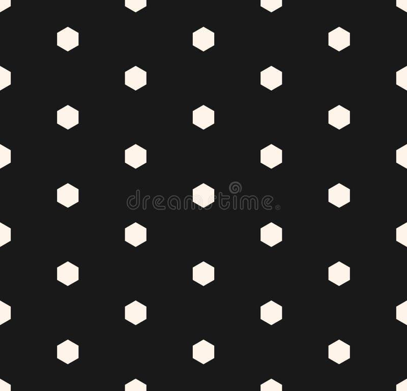 与小六角形的传染媒介最低纲领派无缝的样式 向量例证