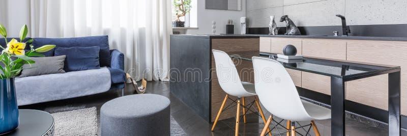 与小厨房的单室公寓 免版税库存照片