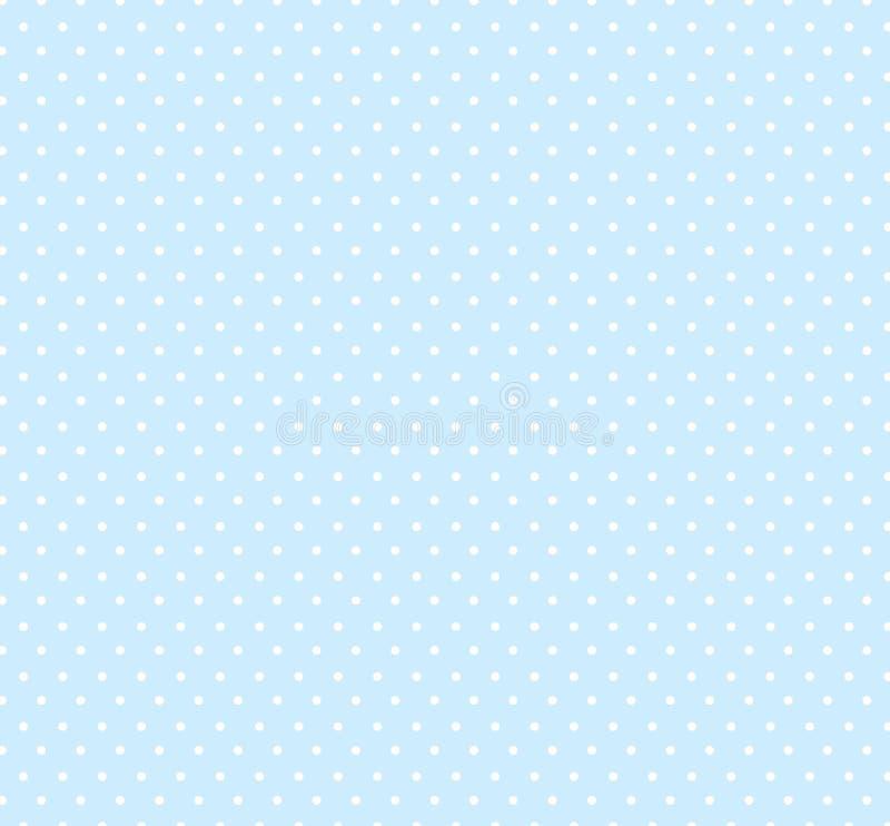 与小圆点样式的轻的淡色蓝色背景 孩子的无缝的圈子样式 婴儿送礼会装饰背景 向量例证