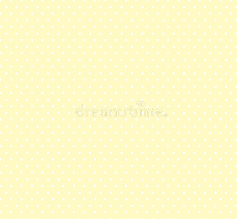 与小圆点样式的轻的淡色黄色背景 孩子的无缝的圈子样式 婴儿送礼会装饰背景 库存例证