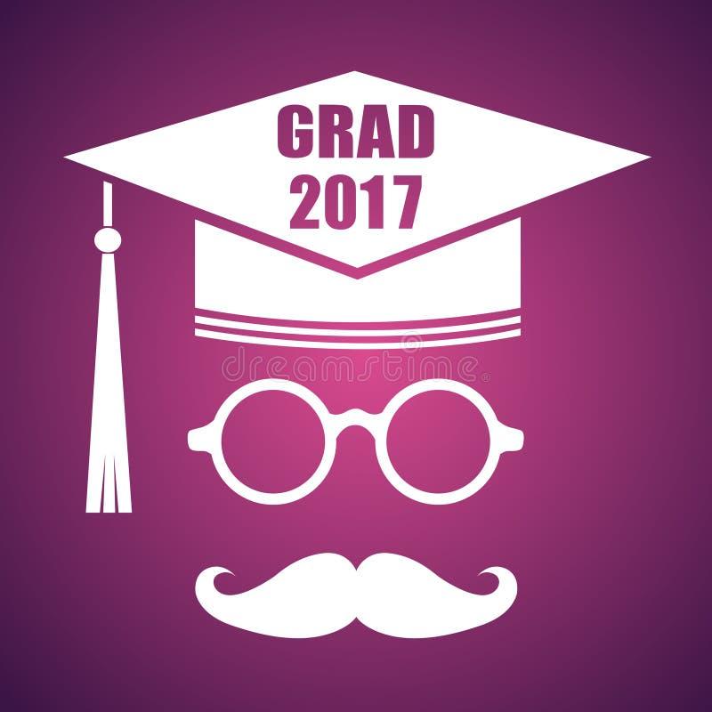 与小屋和文本Congrats毕业的毕业设计 传染媒介congra 向量例证