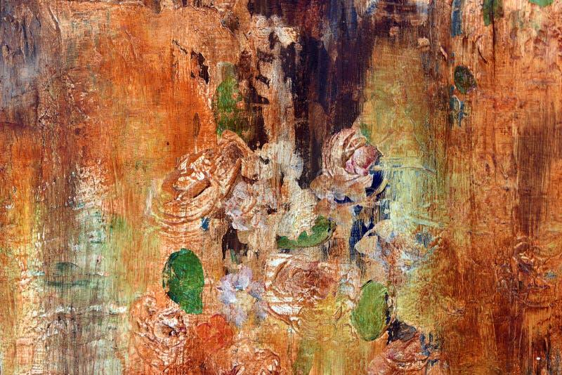 与小插图的老花卉墙纸难看的东西backround 库存图片