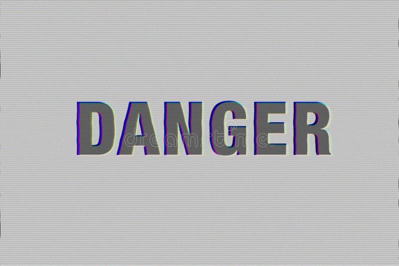 与小故障作用的危险词 免版税图库摄影