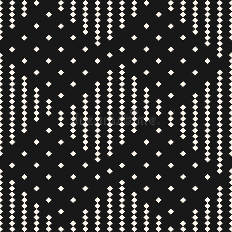 与小正方形的传染媒介黑白几何方格的无缝的样式 格子花呢披肩,格子呢,方格花布纹理  库存例证