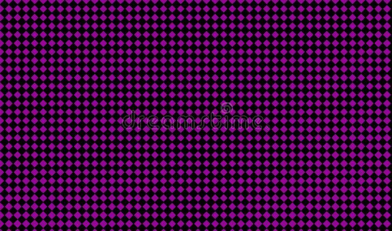 与小正方形的抽象几何样式 黑和紫色颜色传染媒介例证 向量例证