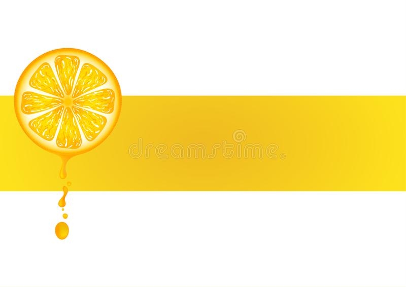 与小滴橙汁过去的新鲜的桔子在背景 r 向量例证