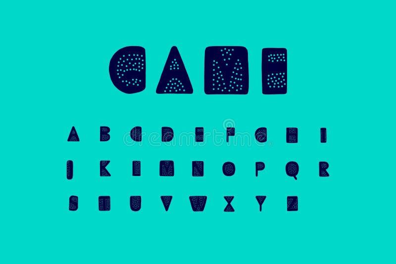 与小点孔的比赛手拉的向量字体例证 向量例证