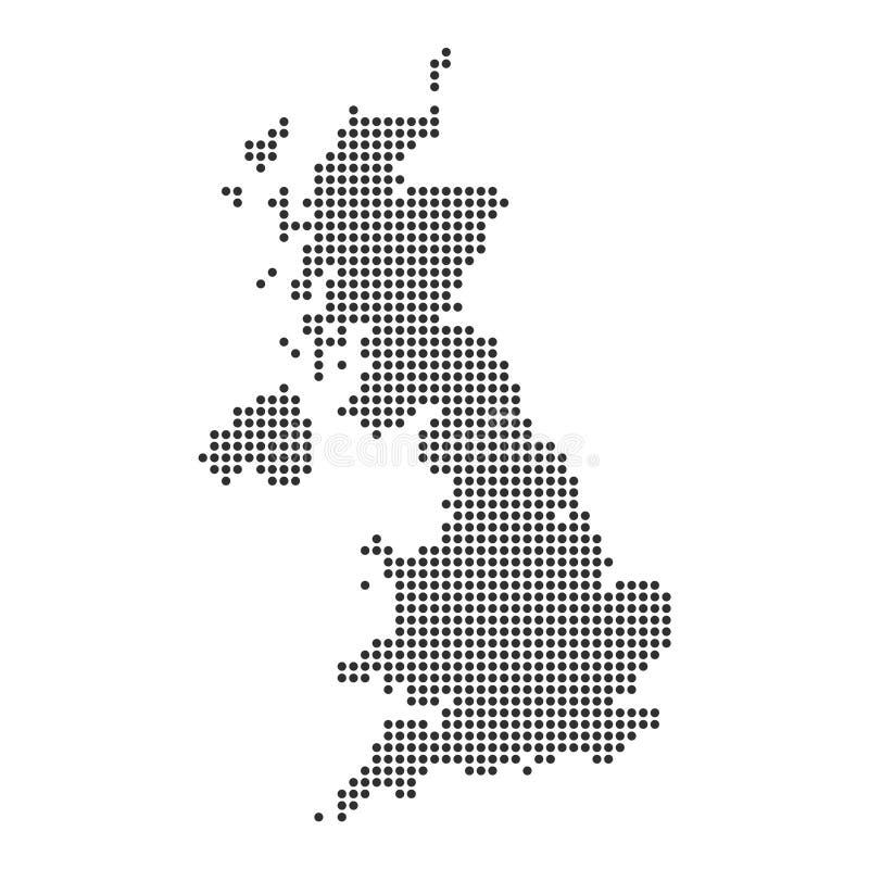 与小点的地图 库存例证