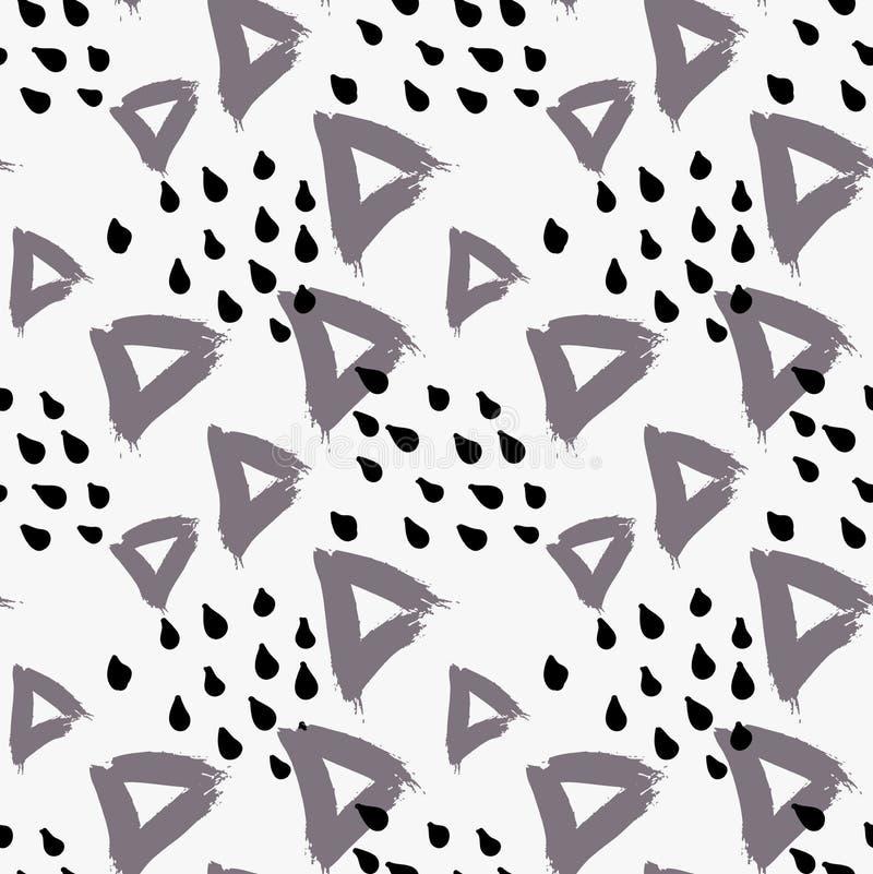 与小点的抽象灰色三角 皇族释放例证