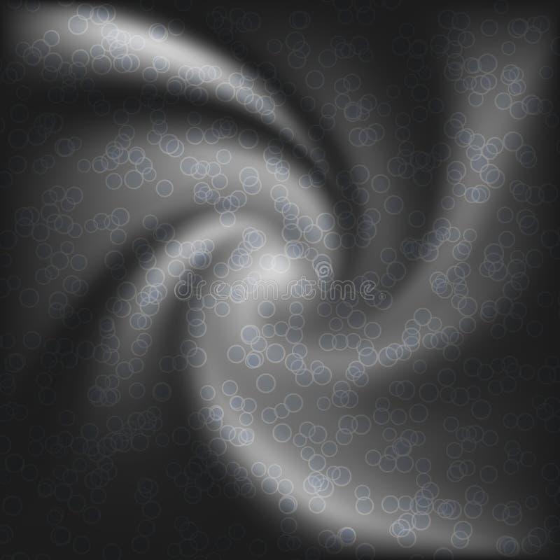 与小点的抽象黑白转弯形状 库存例证