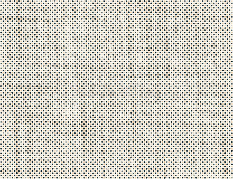 与小点的空白的葡萄酒纸纹理 皇族释放例证