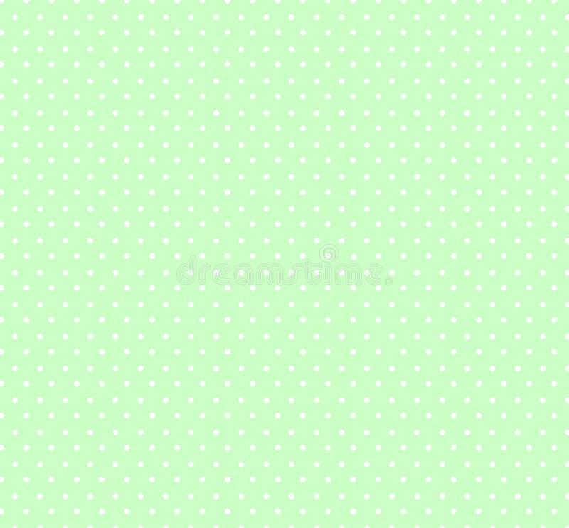 与小白色圆点样式的轻的淡色草绿色背景孩子的 婴儿送礼会装饰背景 库存例证
