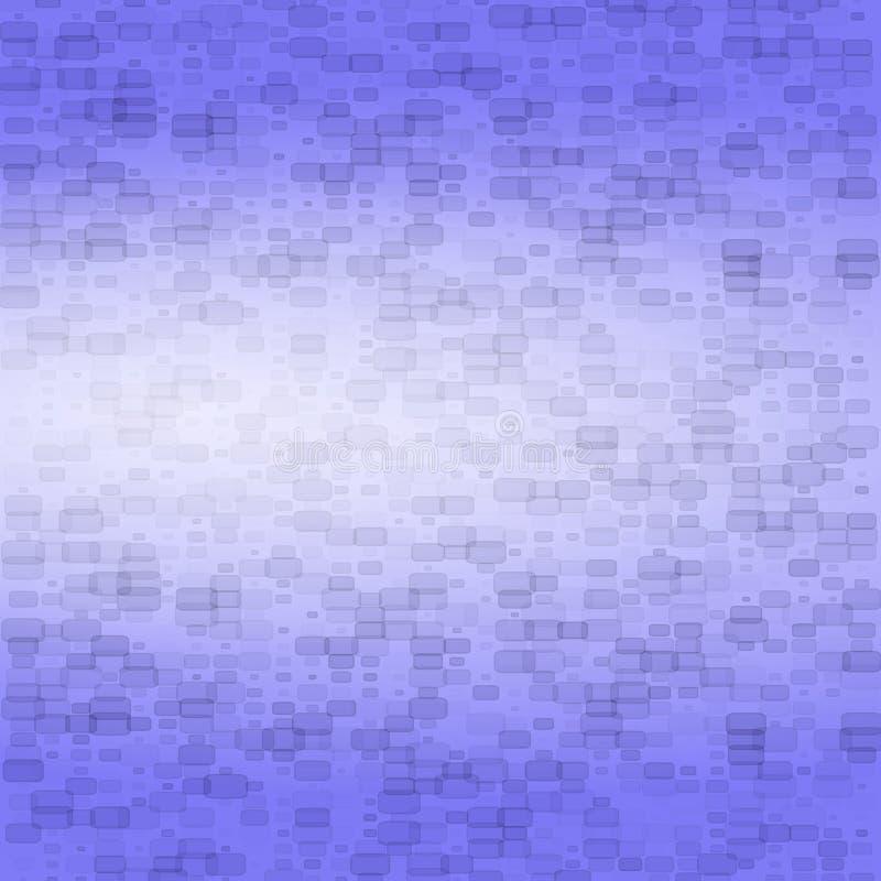 与小砖的深蓝抽象背景 向量例证