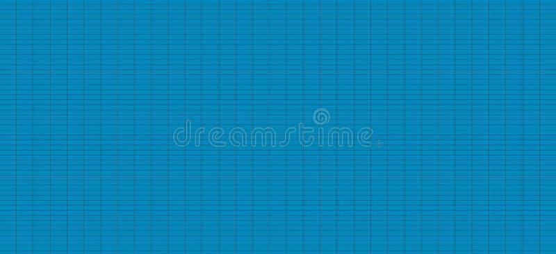 与小空白的网格线黑色-无缝的日程表图桌正方形方格的纹理栅格蓝色背景摘要镶边了 皇族释放例证