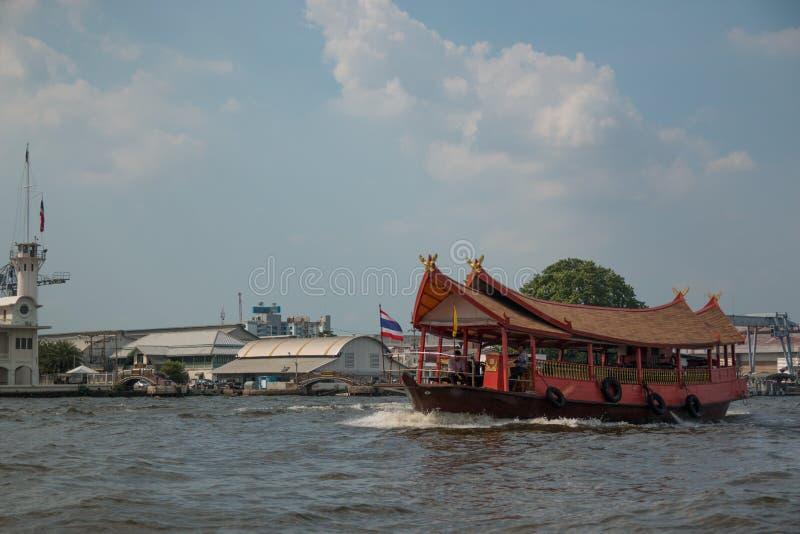 与小船的香港地平线 免版税图库摄影