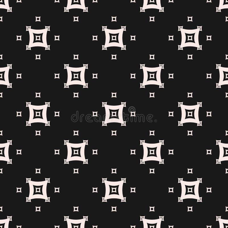 与小被成拱形的正方形的无缝的样式 向量例证