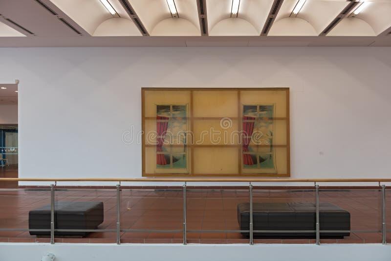 与就座的画廊在博物馆路德维希,科隆香水,德国 图库摄影