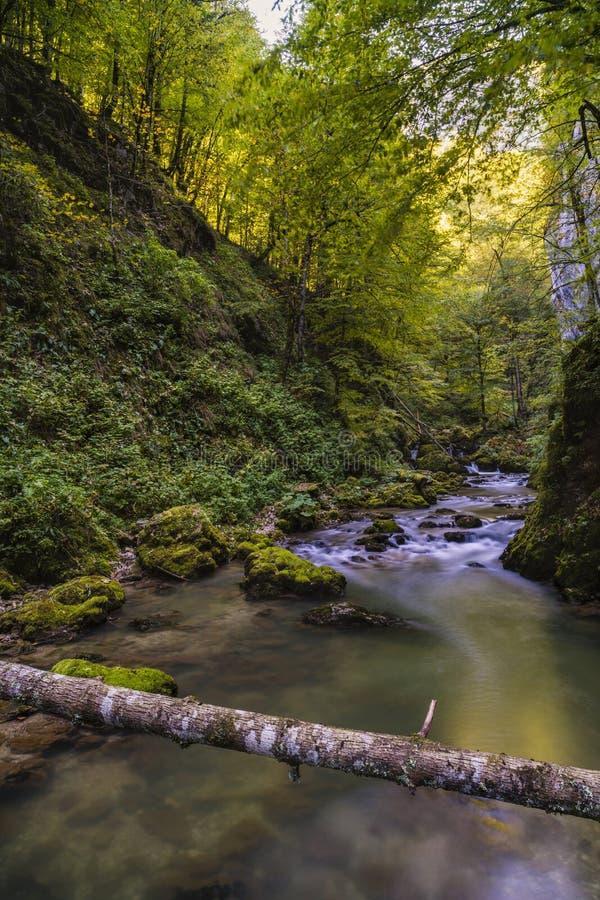 与山河的风景 库存照片