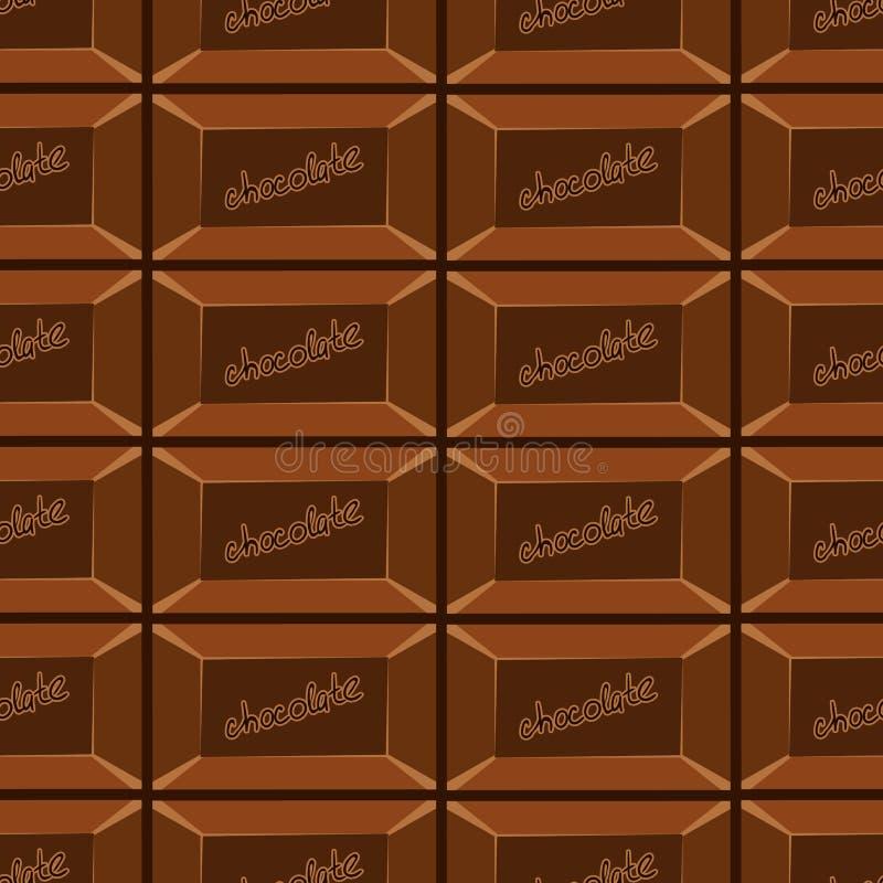 与巧克力纹理8的无缝的样式 皇族释放例证