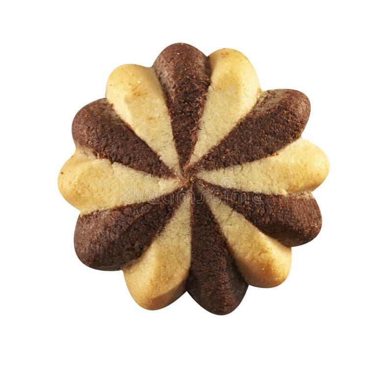 与巧克力装填的曲奇饼 免版税库存照片
