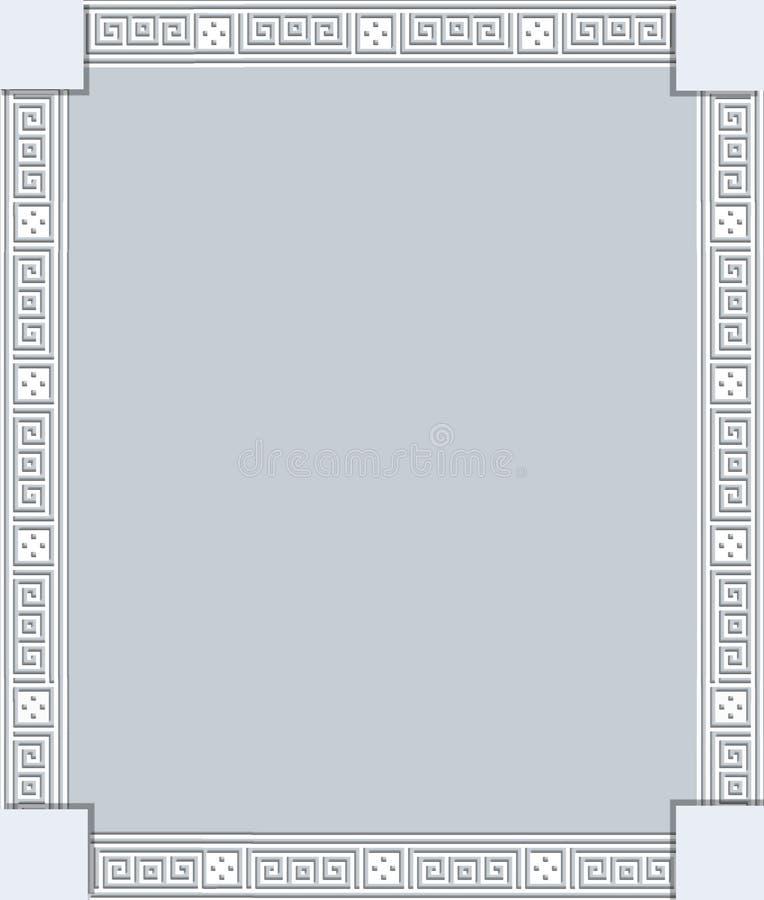 与希腊装饰品的框架 皇族释放例证