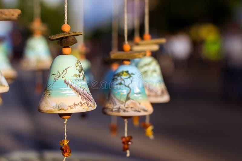 与帕兰加的图象的纪念品响铃 库存图片