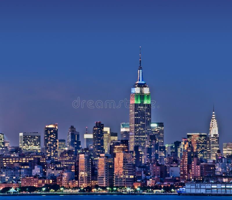 与帝国大厦的纽约地平线 免版税库存照片