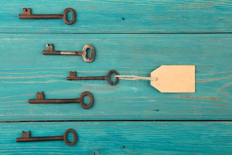 与带领的标记的钥匙,领导概念 库存照片