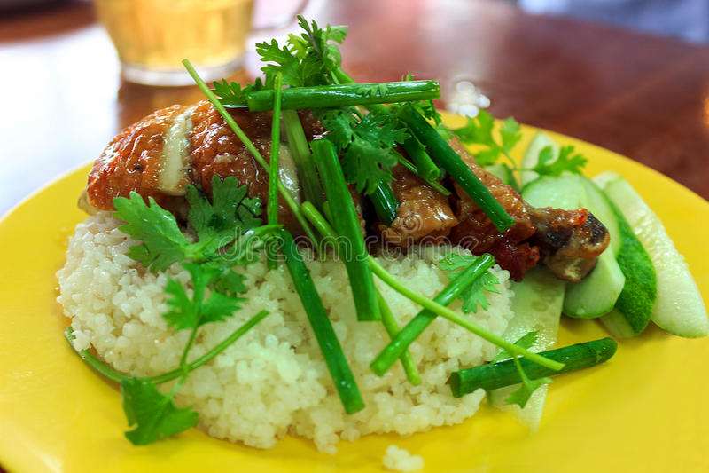 与干鸡的米 免版税图库摄影