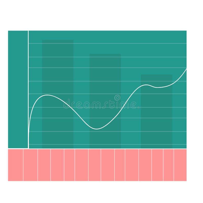 与平的设计图表和图的简单的infographic仪表板模板 向量例证
