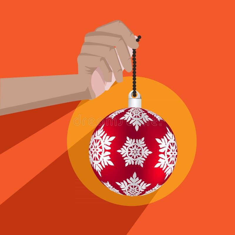 与平的设计的圣诞节背景 皇族释放例证