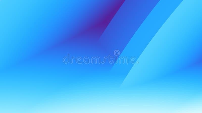 与平行的对角线的充满活力的蓝色现代抽象分数维背景例证 文本空间 专业企业样式 向量例证