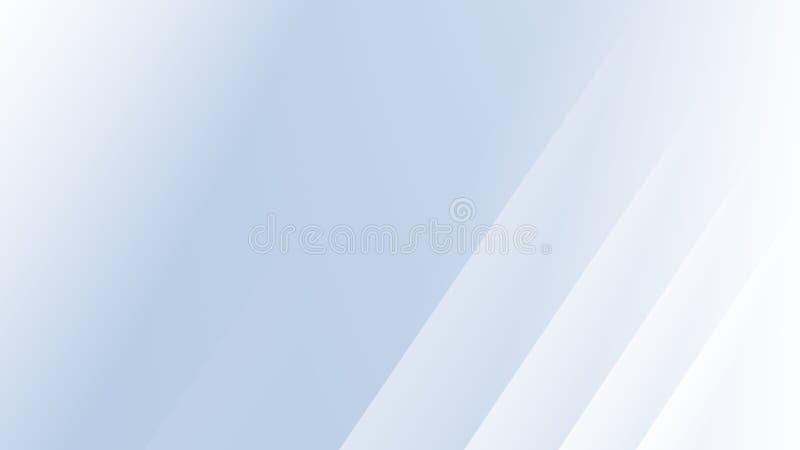 与平行的对角线的浅兰的白色现代抽象分数维背景例证 库存例证
