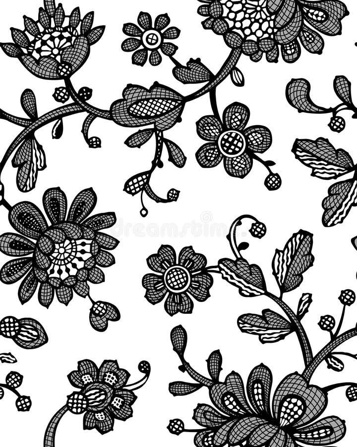 与幻想花的无缝的样式 传染媒介摘要无缝的花卉样式 Lase样式 模板可以为墙纸使用, 皇族释放例证