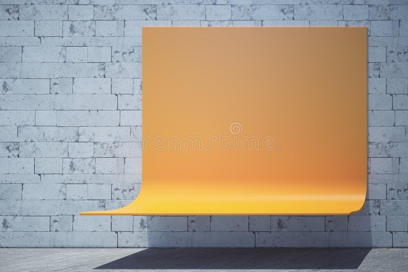 与广告空间的长凳 向量例证