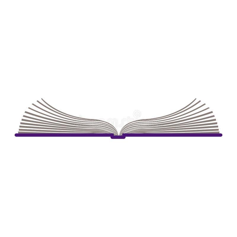 与开放书的颜色剪影 皇族释放例证