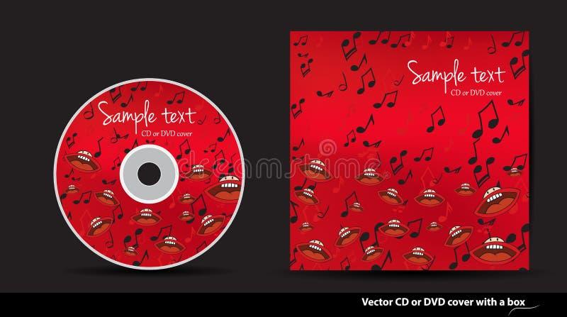 与开放嘴的红色DVD盖子 库存例证