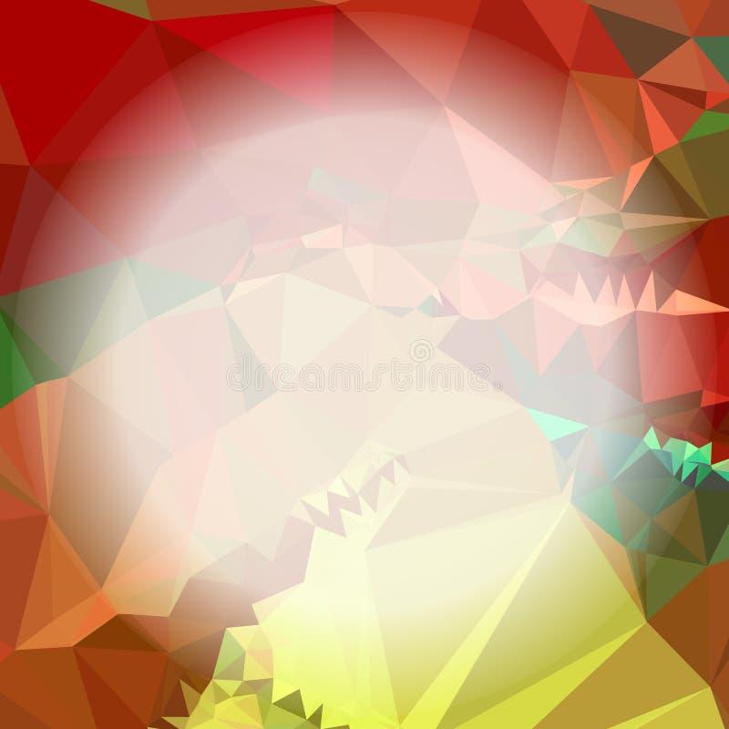 与弄脏的马赛克三角背景围绕文本的空白 向量例证