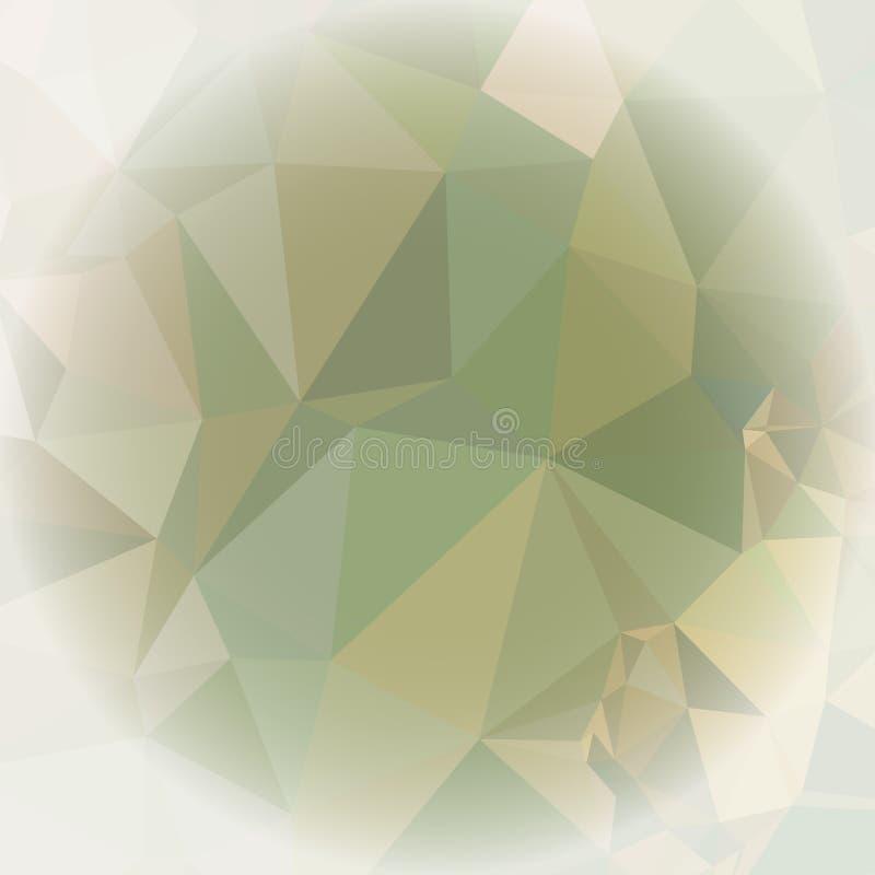 与弄脏的马赛克三角背景围绕文本的空白 皇族释放例证